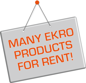 EKRO Products for Rent!